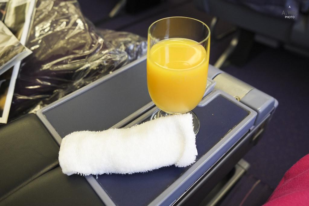 Orange Juice and Towel
