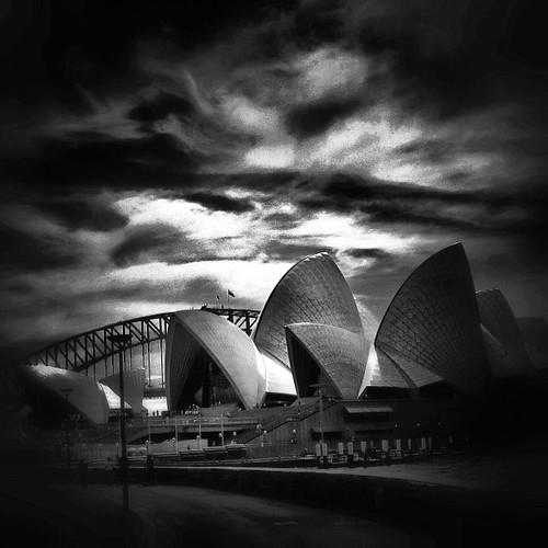 #bw of #sydney #operahouse #australia by @MySoDotCom