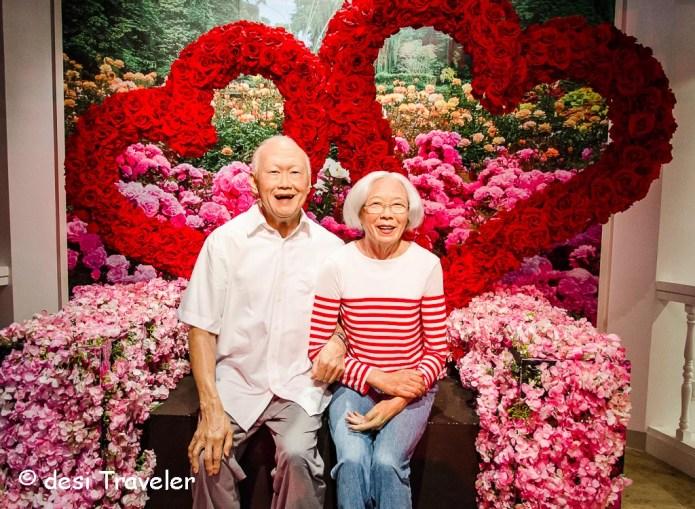 Lee Kuan Yew, with his wife Kwa Geok Choo Madame Tussauds