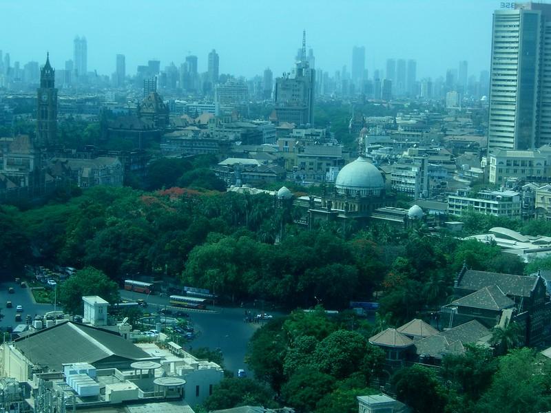 India Mumbai View from The Taj Hotel
