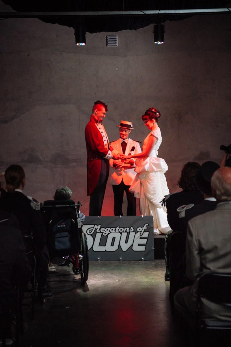 Bunker vault wedding ceremony