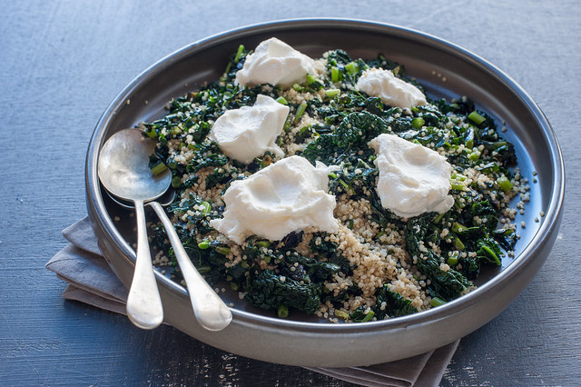 kale with quinoa