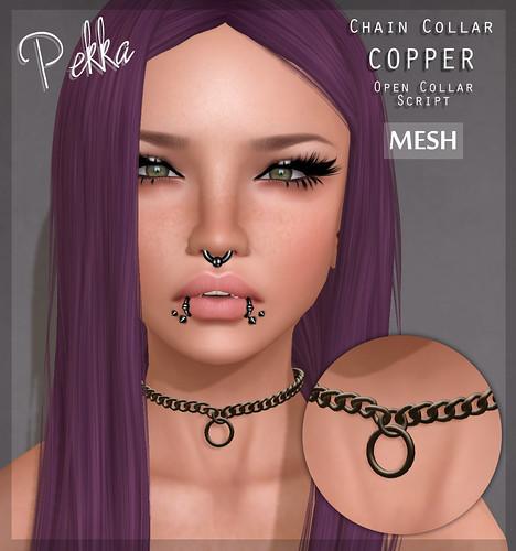 pekka chain collar copper