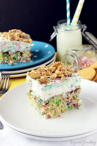 Cake Batter Poke Cake