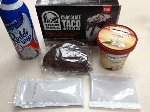 Taco Bell Chocolate Taco Dessert Kit Parts