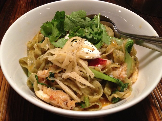 Dungeness crab noodles - Revel