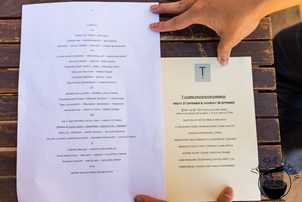 Flanagan's Dining Room menu