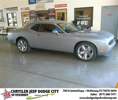 Dodge City of McKinney would like to say Congratulations to Estelle Long on the 2013 Dodge Challenger by Dodge City McKinney Texas