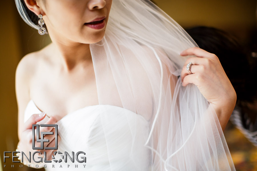 Chinese bride preparing for her wedding at Chateau Elan