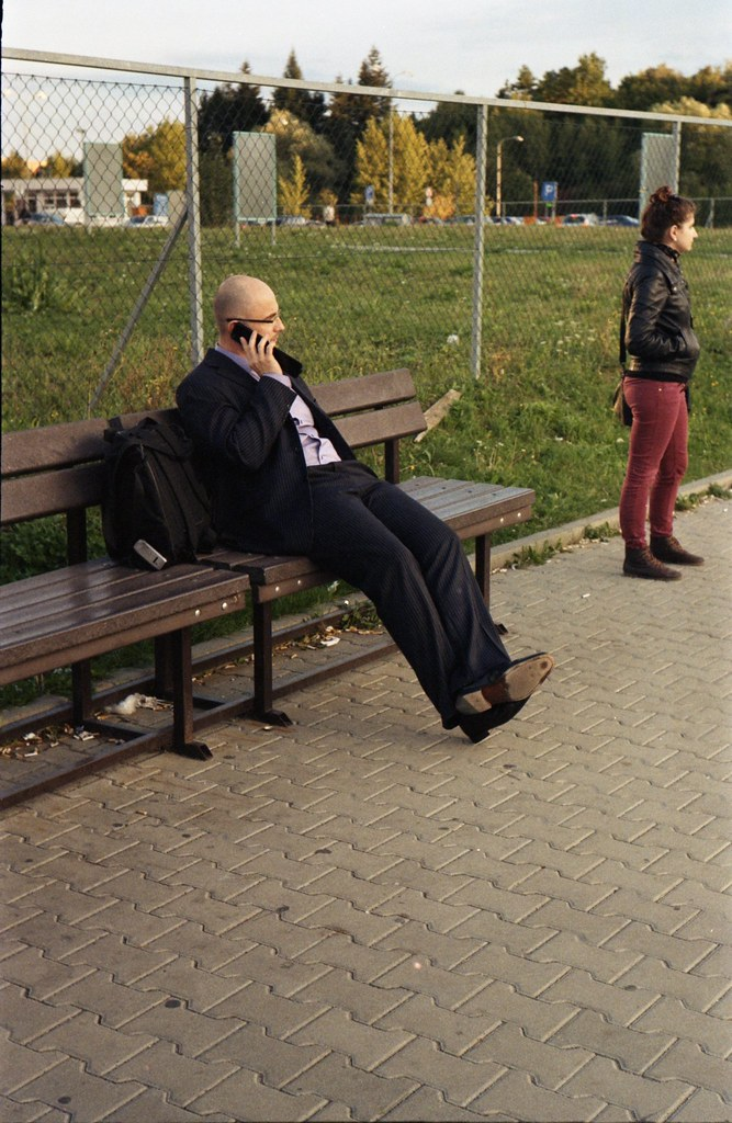 Kiev 4 - New Scan - Businessman Making a Phone Call an Looking at a Girl