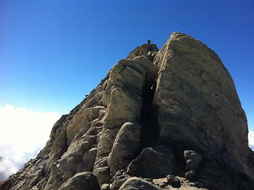 Aufstieg über den Grat zum Gipfel der Rötspitze