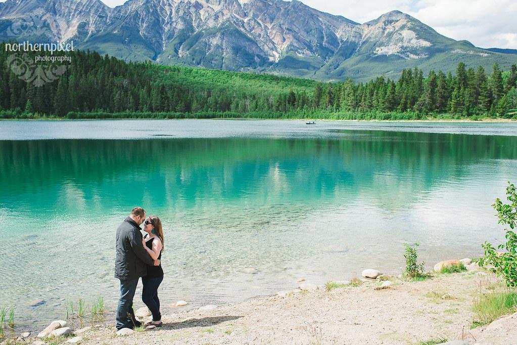 Patricia Lake Engagement Session Jasper Alberta Canada Elopement Wedding