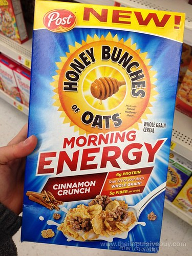 Post Honey Bunches of Oats Morning Energy Cinnamon Crunch Cereal