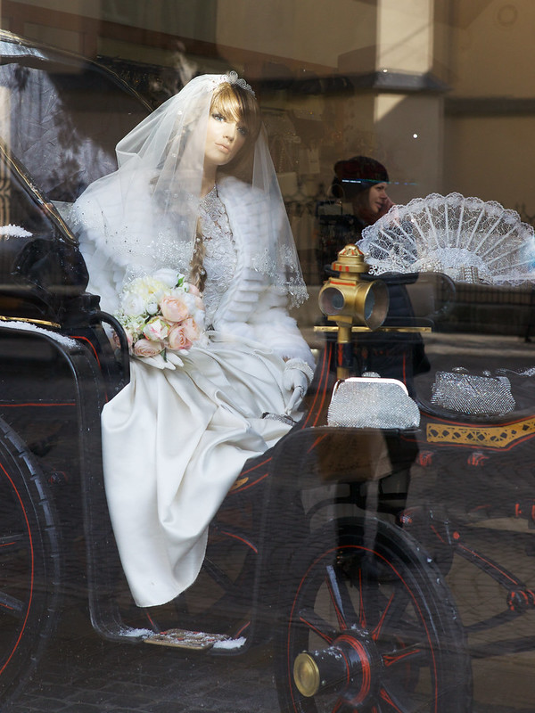 Bride and girl. Lviv, Ukraine