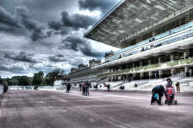 the Longchamp racecourse (HDR)