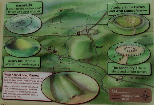 Avebury sites map