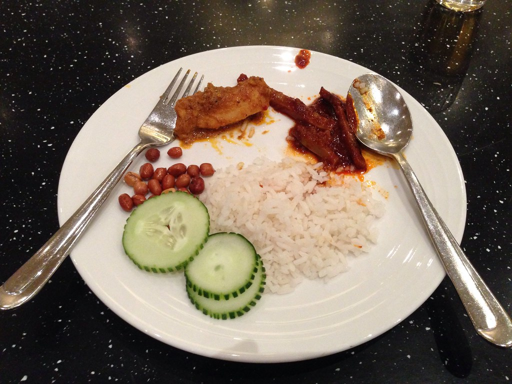 Having Nasi Lemak for Breakfast