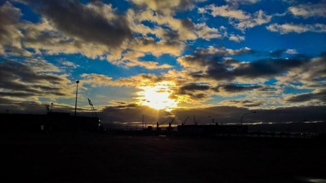 Sunrise of the Wellington harbour