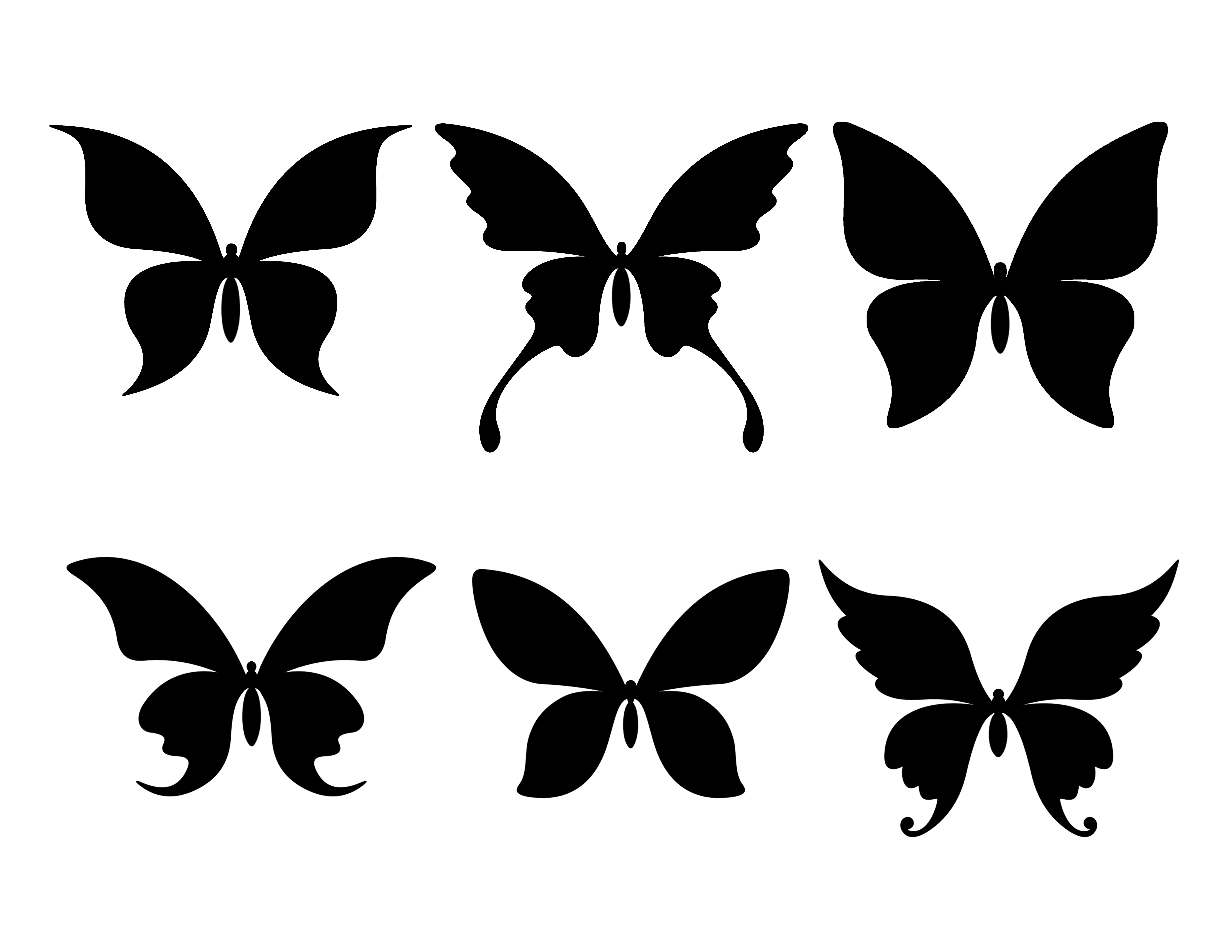 Mel Stampz Free Butterfly Silhouette Udio Cut Files