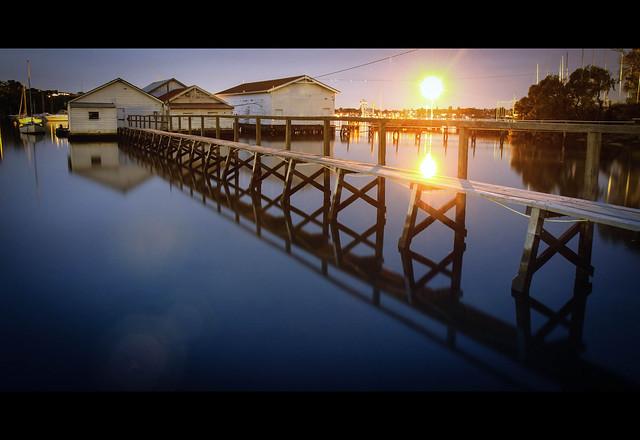 Freshwater Bay Boatsheds, Western Australia
