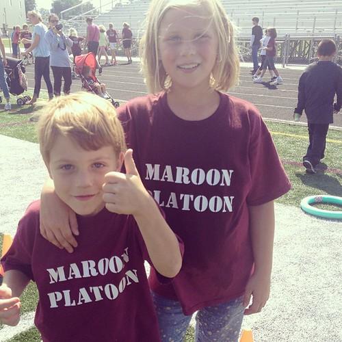 Walk-a-thon! #maroonplatoon