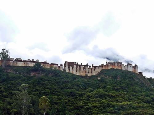 burnt down dzong