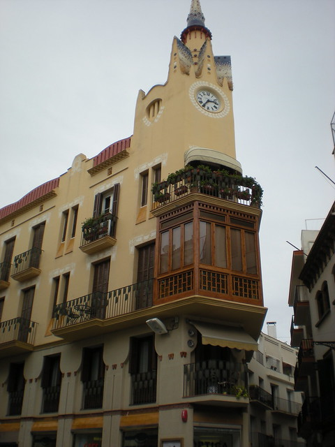 Art nouveau clock tower