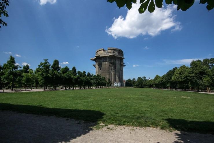 Flak Tower in Augarten park