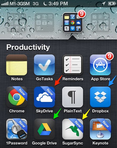 Cloud apps on iPhone