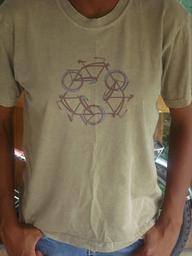 Hemp recycle bicycle t-shirt