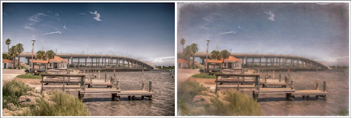 HDR and Painted Image of ICW in Ormond Beach
