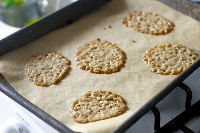 from the oven -- crispy splats!