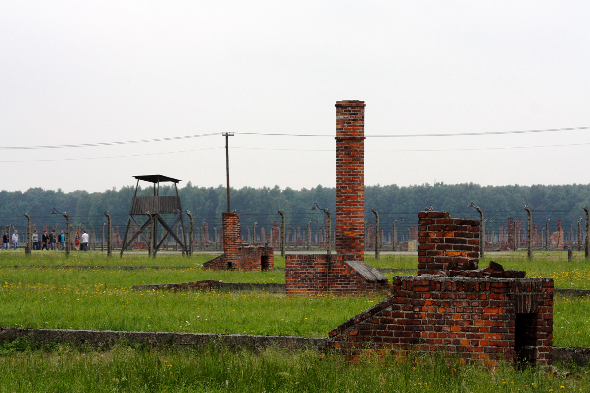 Building remnants from Birkenau (Auschwitz II).