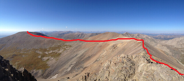 Route to Mt. Bross