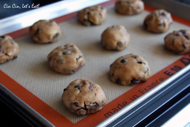 nutella cookies - dough balls