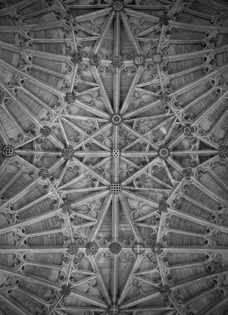 Fan ceiling roof of Sherborne Abbey