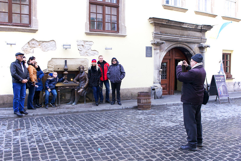 People on a street. Lviv, Ukraine
