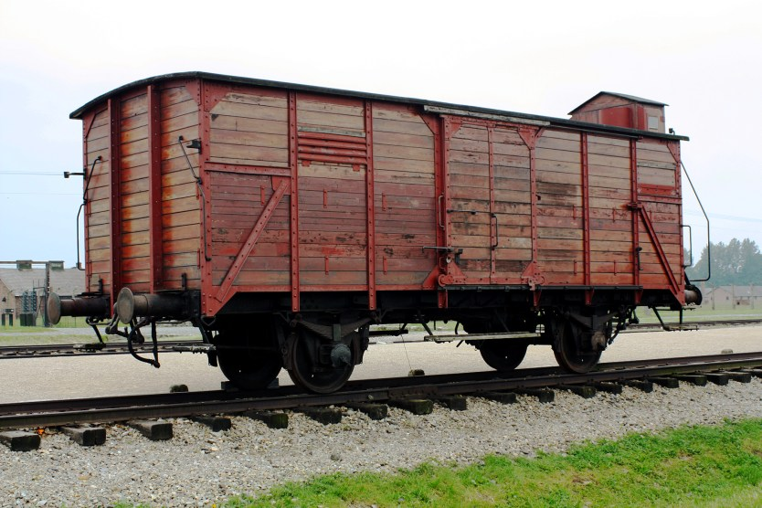 Transport train car, Birkenau (Auschwitz II).