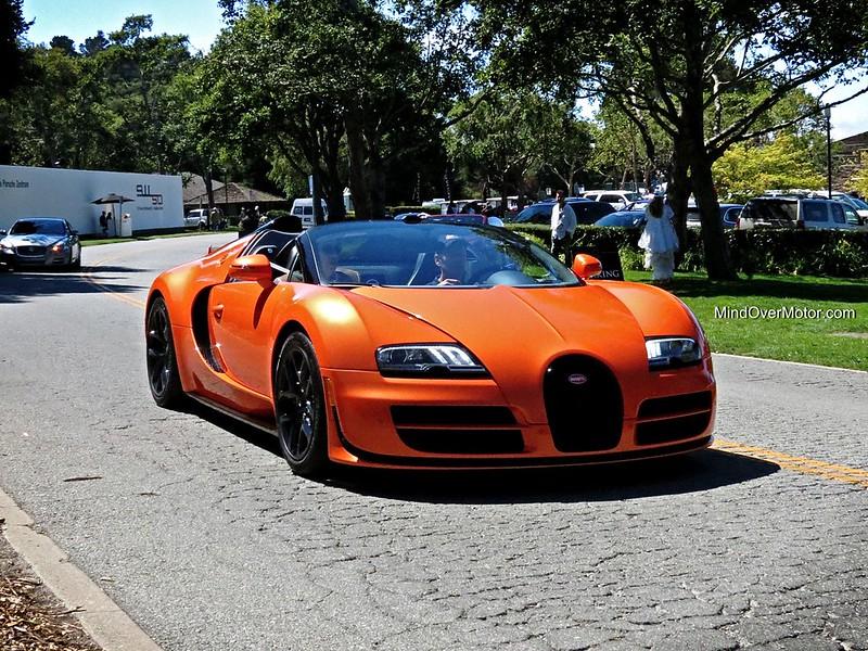 Bugatti Veyron Grand Sport Vitesse spotted at the Quail Lodge in California