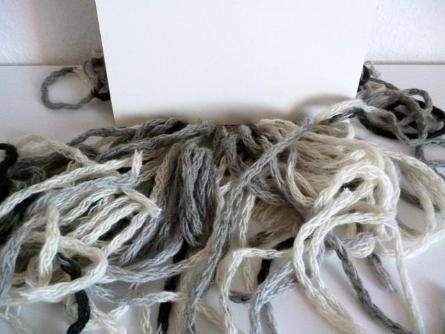 Webfäden geschnitten