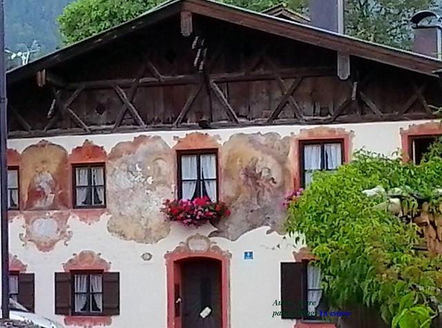 Pintura deteriorada fachada Oberammergau