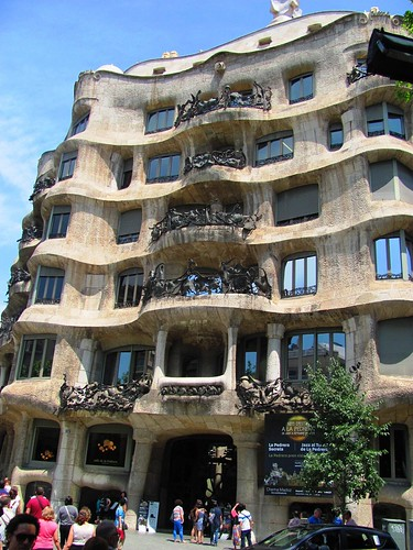 Barcelona, Spain-Gaudi La Pedrera House