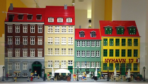 Model of Nyhavn in the Lego Store