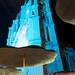 Iglesia, El Jardin blue-lit