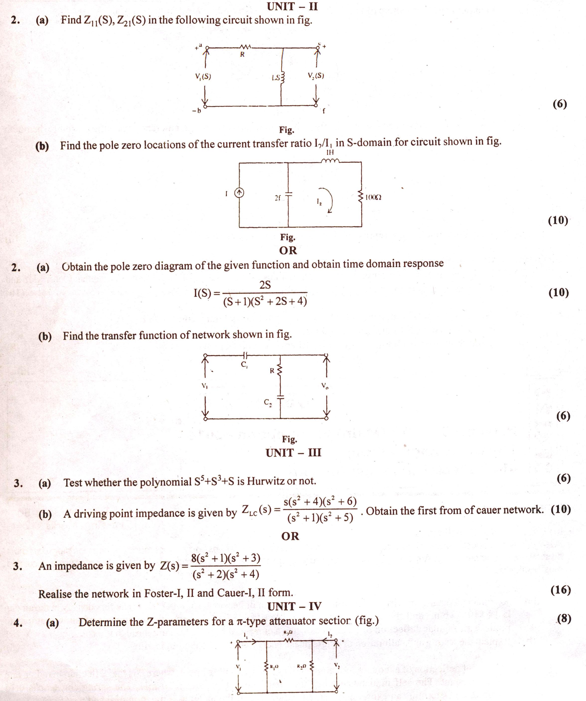 Rtu Question Papers 4 Semester Ee Circuitysis Ii