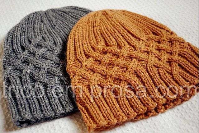 tricô em prosa - para meninos e meninas: gorros Knotty But Nice tricotados para o Caio e para o Rafael