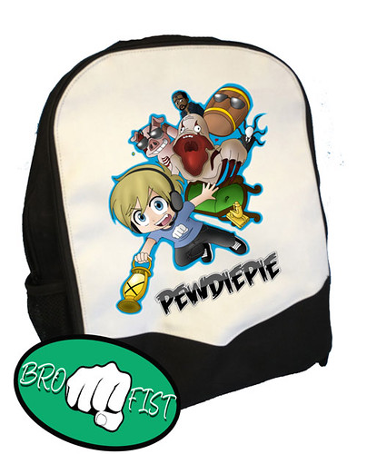 PEWDIEPIE INSPIRED FLYING BACK PACK KNAPSACK PERFECT FOR SCHOOL  eBay