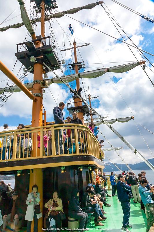 坐海賊船到箱根町