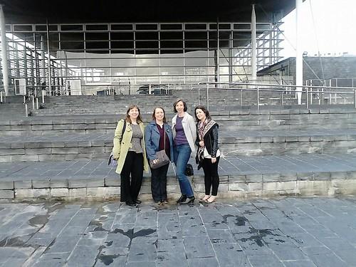 Sgioba foghlaim na Pàrlamaid: Caroline, Susan, Elizabeth, Hayley.