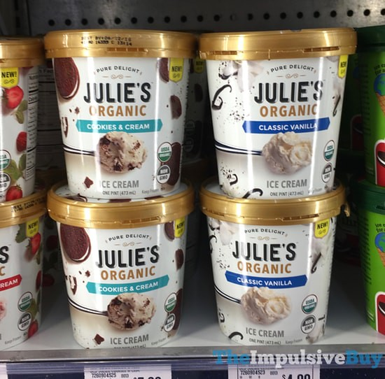 Julie's Organic Ice Cream (Cookies & Cream and Classic Vanilla)